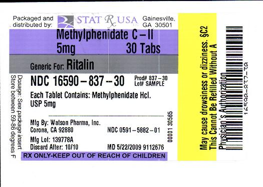 METHYLPHENIDATE 5MG LABEL IMAGE
