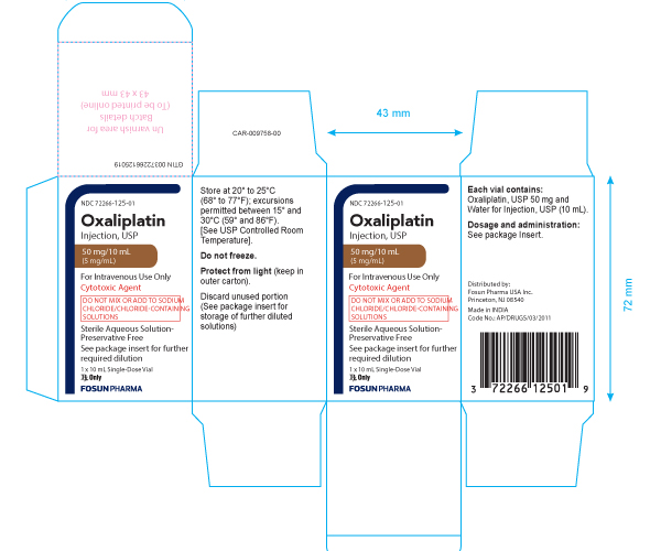 This is an image of Oxaliplatin injection 10 mg carton.
