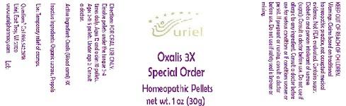 Oxalis 3 Special Order Pellet Breastfeeding