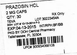 Prazosin Hydrochloride | State Of Florida Doh Central Pharmacy Breastfeeding