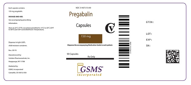 Pregabalin Caps 150 mg 51407-513-90.jpg