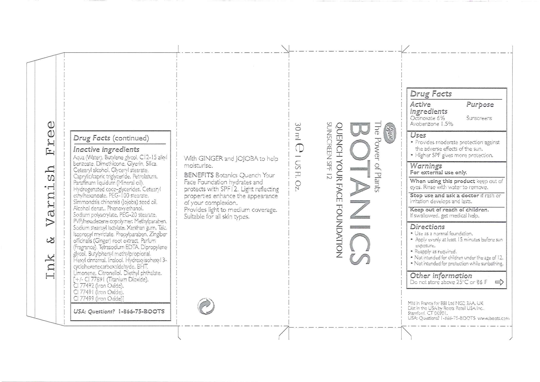 Botanics Quench Your Face Foundation Sunscreen Spf 12 Sweet Ginger 30 | Octinoxate 1.8 Ml, Avobenzone 0.45 Ml Breastfeeding