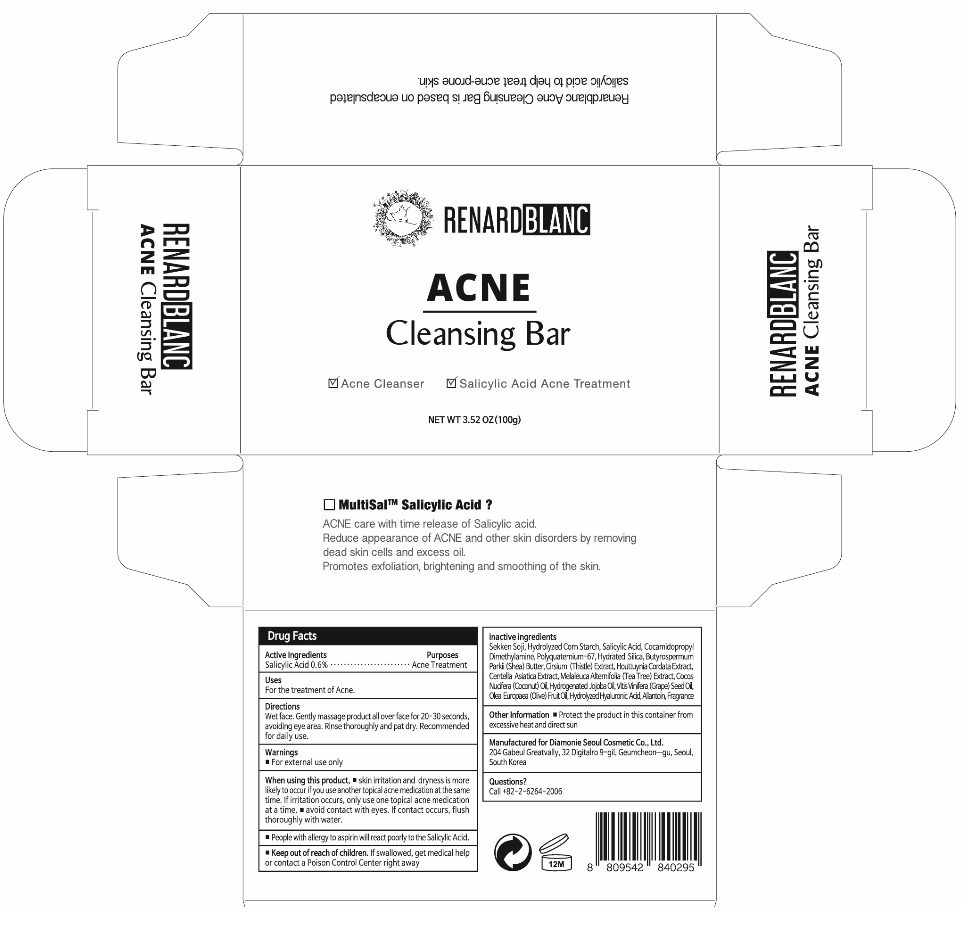 Renardblanc Acne Cleansing Bar   Salicylic Acid Soap Breastfeeding