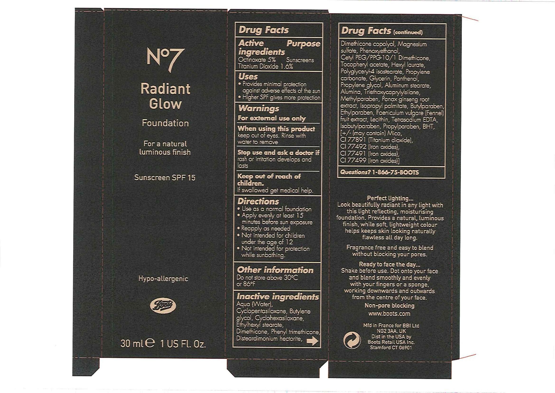 No7 Radiant Glow Foundation Sunscreen Spf 15 Porcelain 05 | Octinoxate 1.5 Ml, Titanium Dioxide 0.48 Ml Breastfeeding