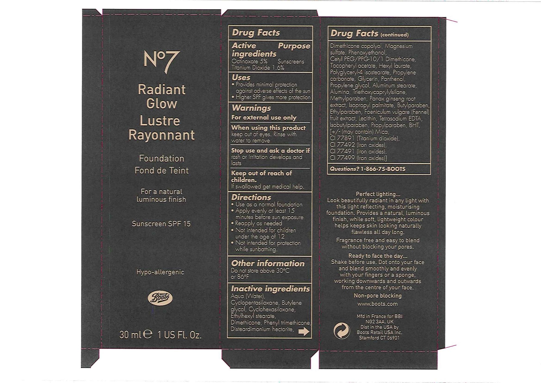 No7 Radiant Glow Foundation Sunscreen Spf 15 05   Octinoxate And Titanium Dioxide Emulsion Breastfeeding