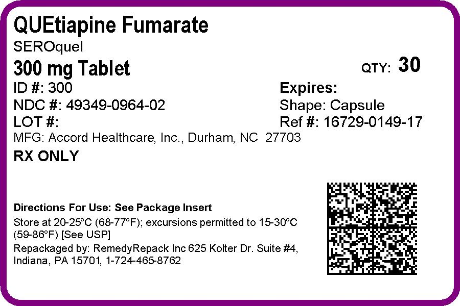 Quetiapine Fumarate | Remedyrepack Inc. Breastfeeding