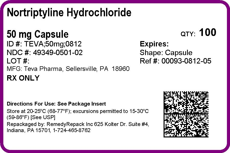 Nortriptyline Hydrochloride   Remedyrepack Inc. Breastfeeding