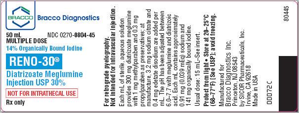 Reno-30 | Diatrizoate Meglumine Injection Breastfeeding