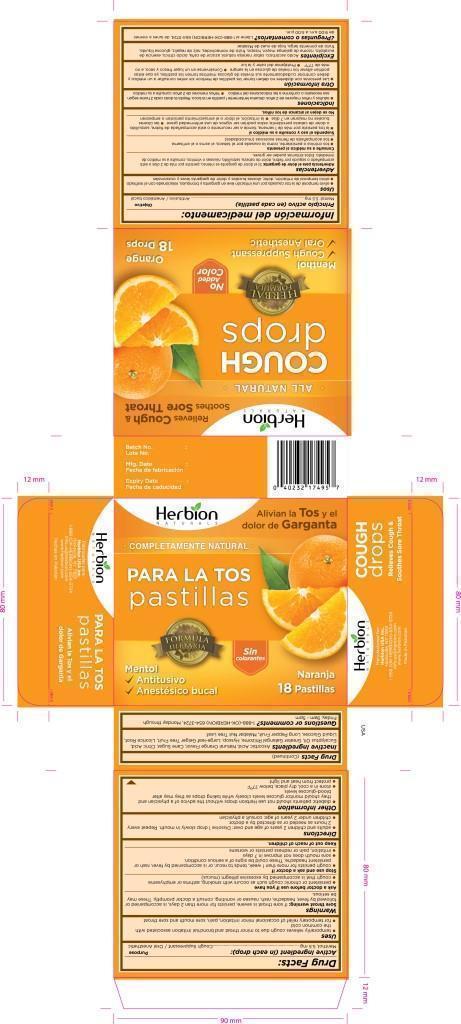 Herbion Naturals Orange Cough Drops   Herbion Pakistan (pvt) Ltd while Breastfeeding