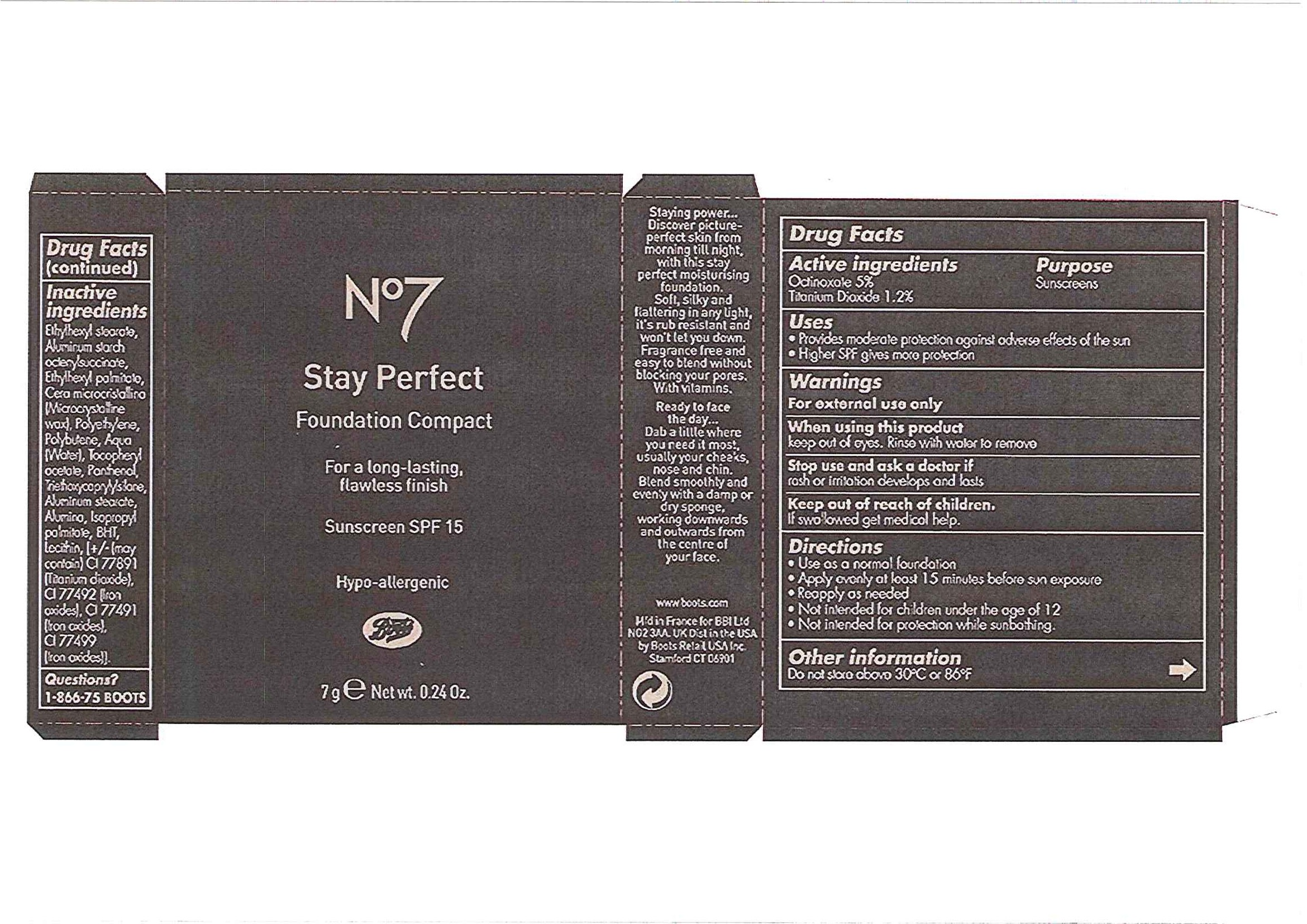 No7 Stay Perfect Foundation Compact Sunscreen Spf 15 Sandstorm Breastfeeding