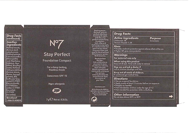No7 Stay Perfect Foundation Compact Sunscreen Spf 15 Caramel Breastfeeding