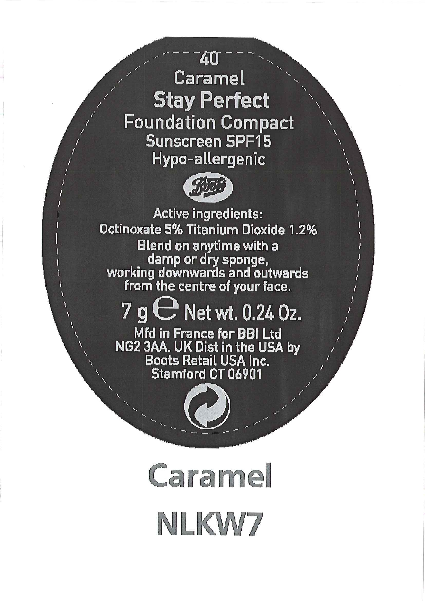 Is No7 Stay Perfect Foundation Compact Sunscreen Spf 15 Caramel safe while breastfeeding