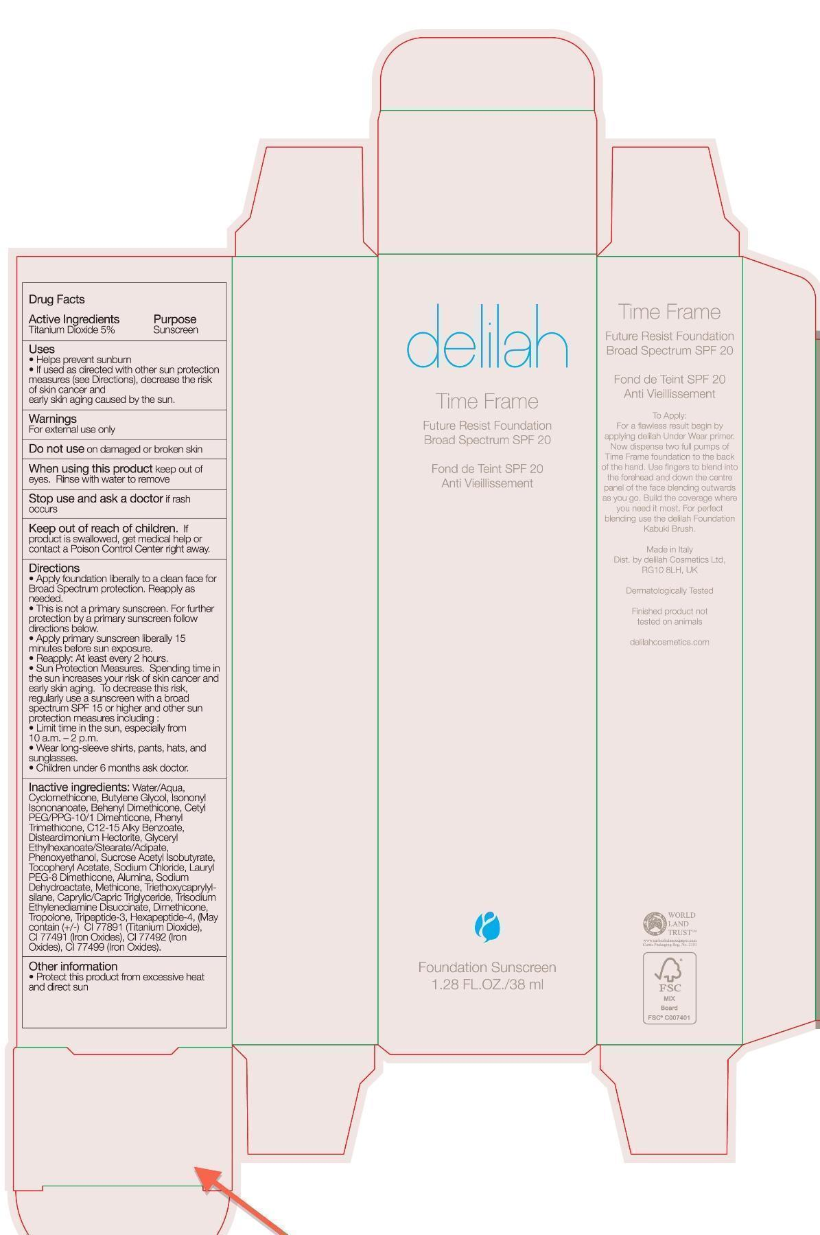 Time Frame Future Resist Foundation Broad Spectrum Spf 20 Delilah Cosmetics while Breastfeeding