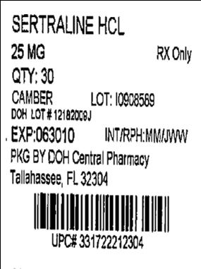 25mg 30 Tablets Label