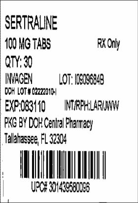 100mg 30 Tablets Label