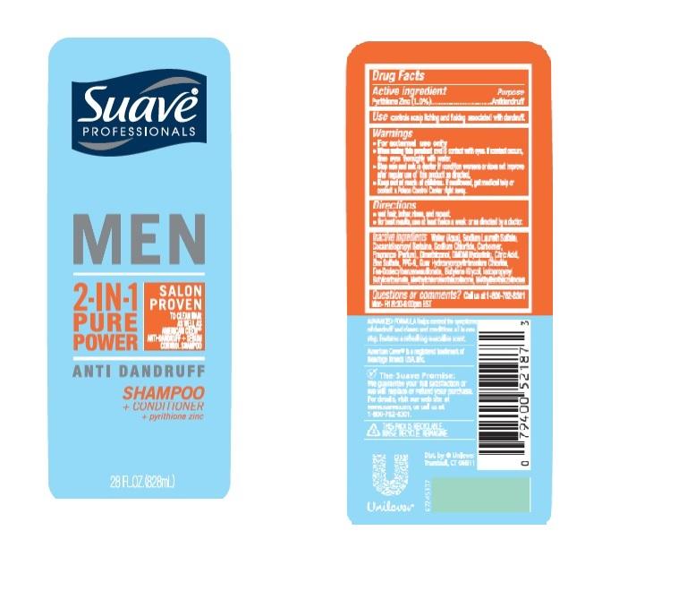 Suave Men 2 In 1 Pure Power Antidandruff | Pyrithione Zinc Shampoo Breastfeeding