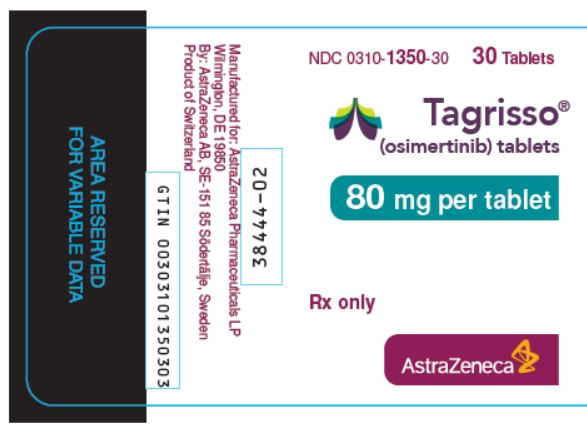 Tagrisso 80 mg tablets bottle label