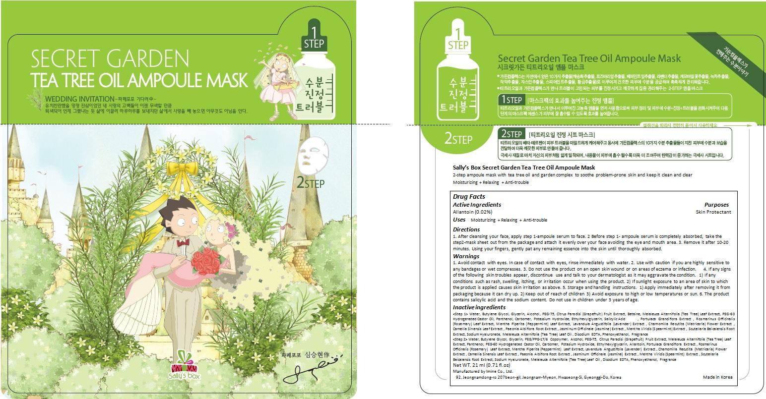 Sallys Box Secret Garden Tea Tree Oil Ampoule Mask | Allantoin Cream Breastfeeding