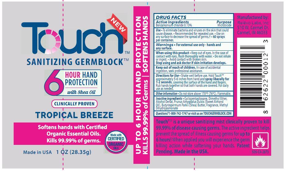 Touch Sanitizing Germ Block, Unscented, 1oz (28.35g)   Benzalkonium Chloride Aerosol, Spray Breastfeeding