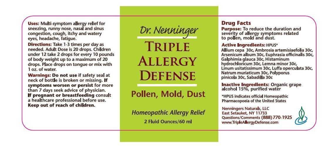 Dr. Nenninger Triple Allergy Defense