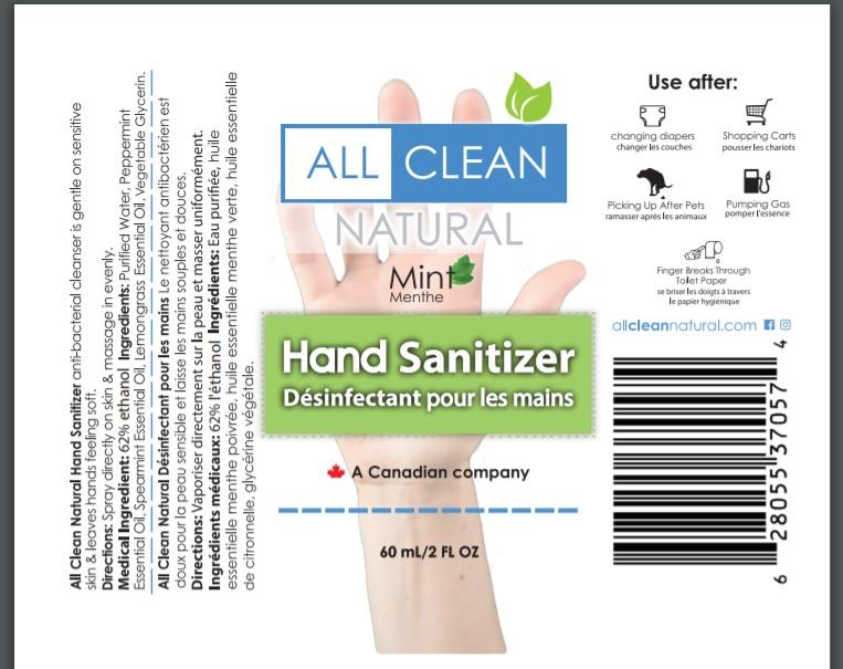 All Clean Natural Hand Sanitizer Spray