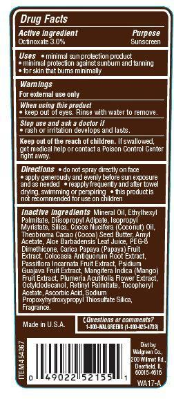 Is Walgreens Dark Tanning Oil Sunscreen Spf 4   Octinoxate Spray safe while breastfeeding