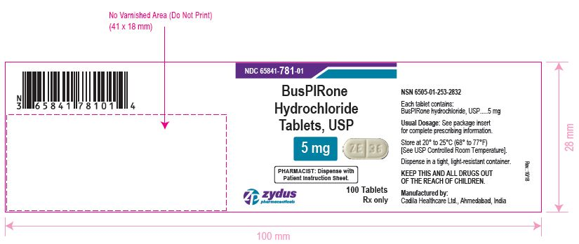 Buspirone Hydrochloride Tablets USP, 5 mg