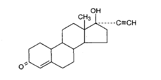 Chem structure Norethindrone