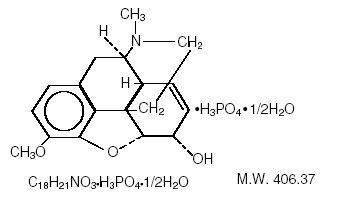 Chemical Structure - Codeine Phosphate