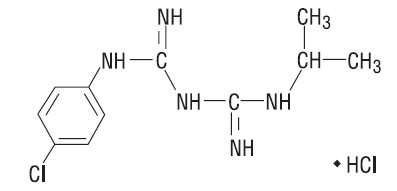 Proguanil HCl Chemical Structure