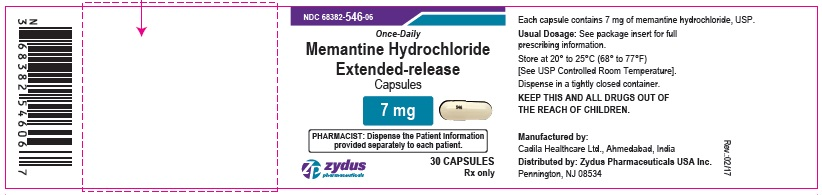 Memantine Hydrochloride Extended-Release Capsules, 7 mg