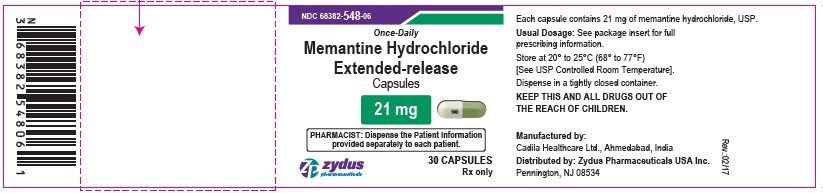 Memantine Hydrochloride Extended-release Capsules, 21 mg