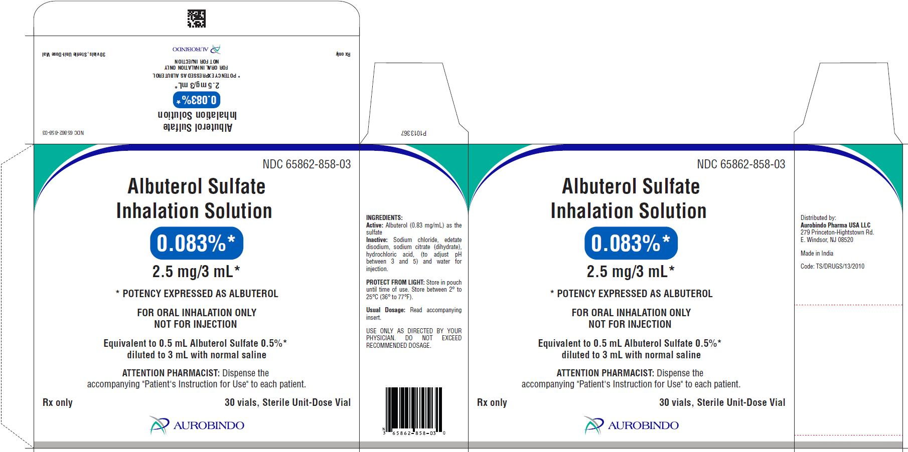 PACKAGE LABEL-PRINCIPAL DISPLAY PANEL - 0.083% (2.5 mg/3 mL) - Container-Carton (30 Individually Wrapped Vials)