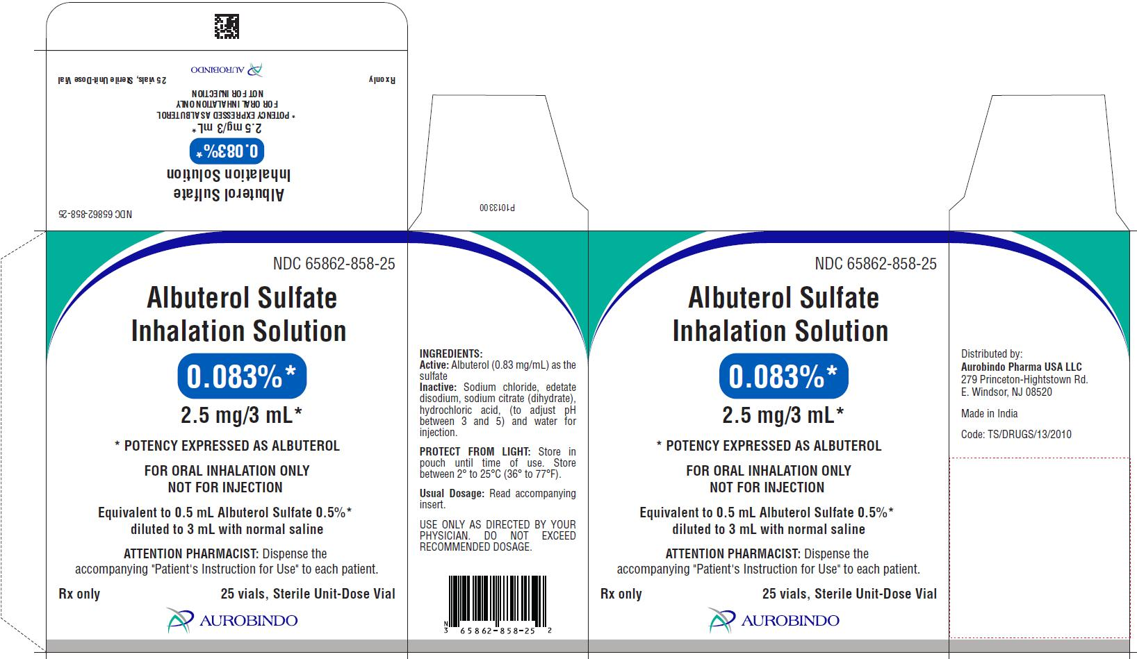 PACKAGE LABEL-PRINCIPAL DISPLAY PANEL - 0.083% (2.5 mg/3 mL) - Container-Carton (25 Vials)