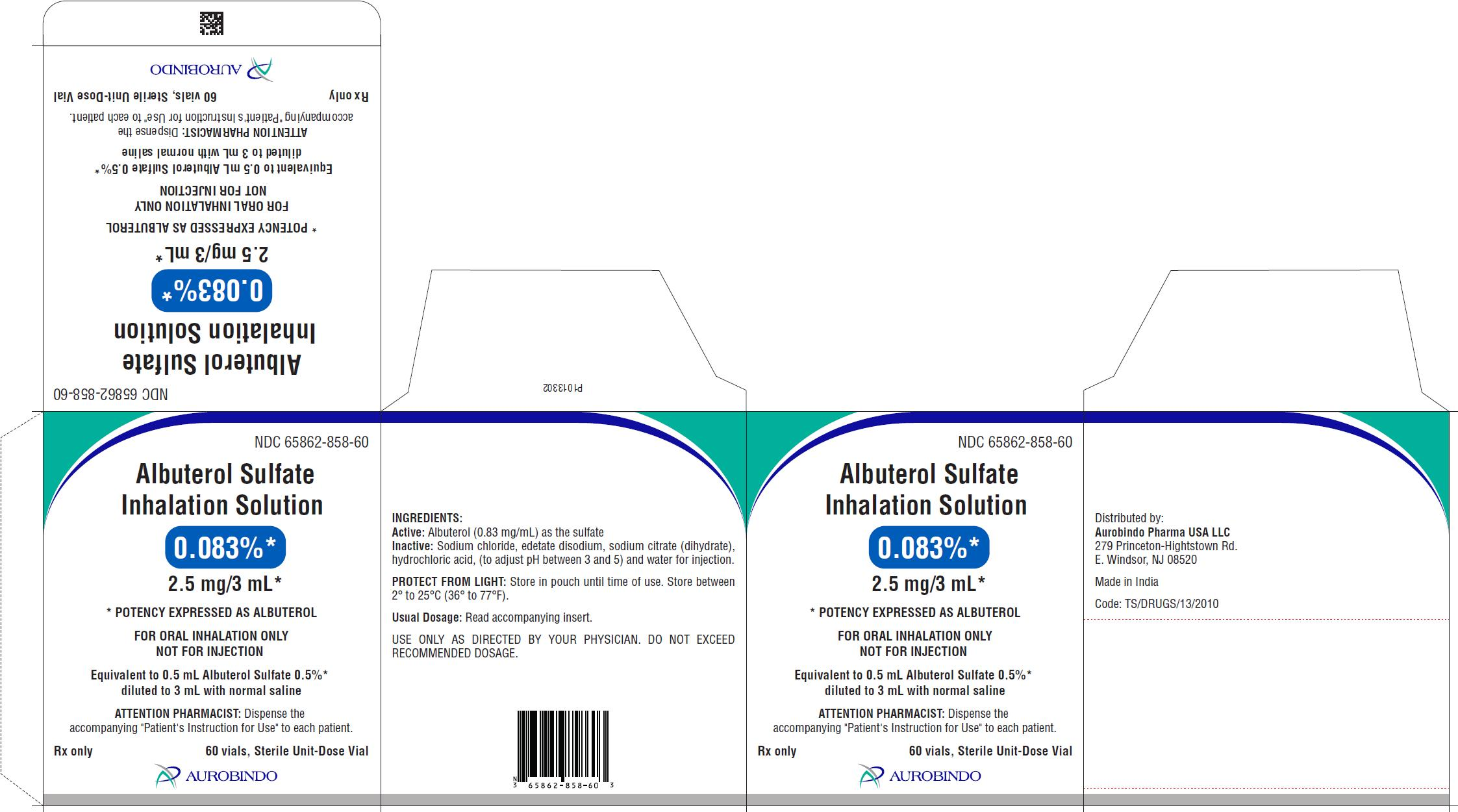PACKAGE LABEL-PRINCIPAL DISPLAY PANEL - 0.083% (2.5 mg/3 mL) - Container-Carton (60 Vials)