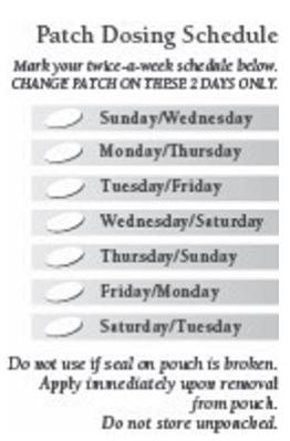 Patch Dosing Schedule