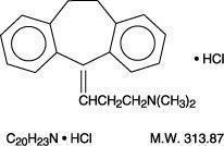 amitriptyline HCl chemical structure