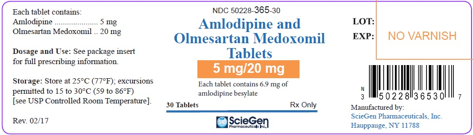 PACKAGE LABEL-PRINCIPAL DISPLAY PANEL - 5 mg/20 mg (30 Tablet Bottle)