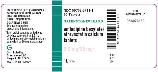 PRINCIPAL DISPLAY PANEL - 2.5 mg/20 mg Tablet Bottle Label