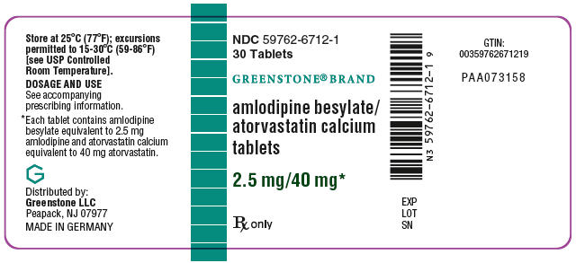 PRINCIPAL DISPLAY PANEL - 2.5 mg/40 mg Tablet Bottle Label