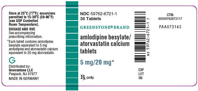 PRINCIPAL DISPLAY PANEL - 5 mg/20 mg Tablet Bottle Label