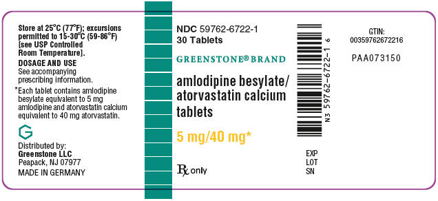 PRINCIPAL DISPLAY PANEL - 5 mg/40 mg Tablet Bottle Label