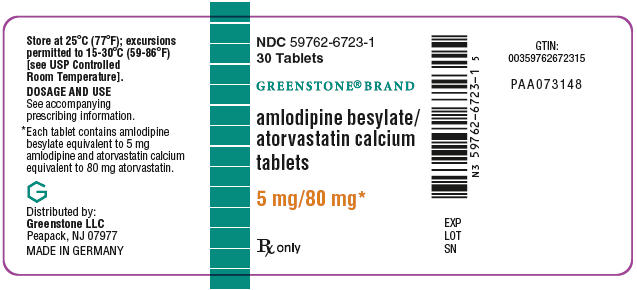 PRINCIPAL DISPLAY PANEL - 5 mg/80 mg Tablet Bottle Label