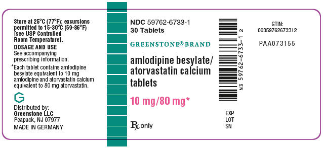 PRINCIPAL DISPLAY PANEL - 10 mg/80 mg Tablet Bottle Label