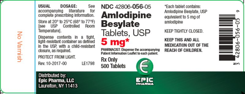 amlodipine 5mg 500ct