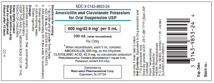 Amoxicillin and Clavulanate Potassium for Oral Suspension USP 200 mL