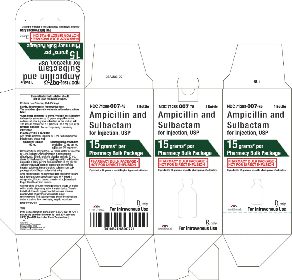 Principal Display Panel – Ampicillin and Sulbactam for Injection, USP 15 gram Carton