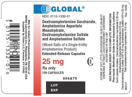 PRINCIPAL DISPLAY PANEL - 25 mg Bottle Label
