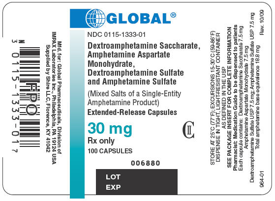 PRINCIPAL DISPLAY PANEL - 30 mg Bottle Label