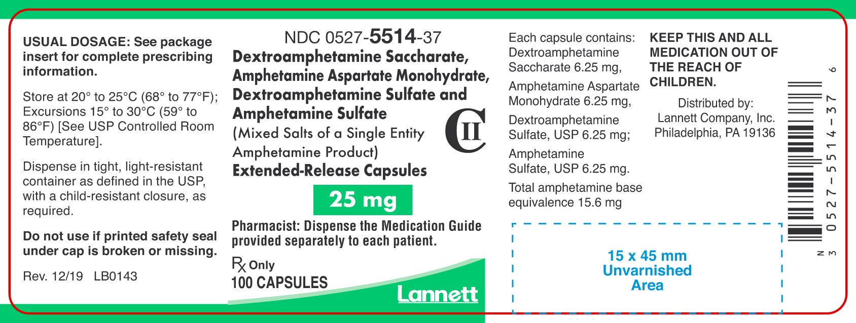 amphetamine-er-container-label-25mg-100ct